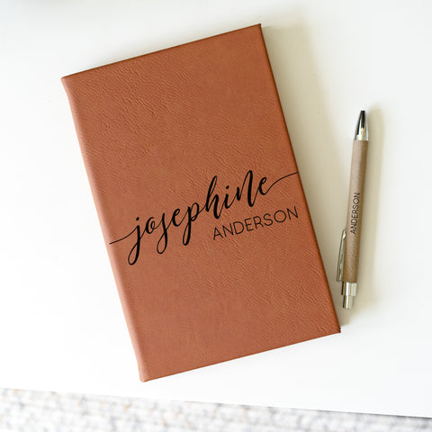 personalized journal with pen
