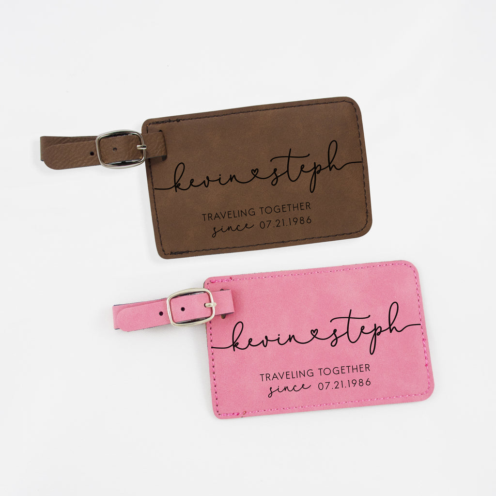 Lovers luggage tags, Personalized luggage tags for couples