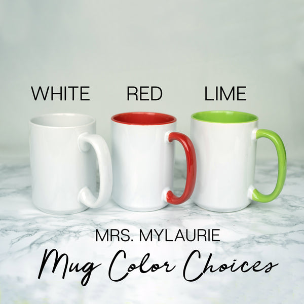 Personalized Mr and Mrs Mugs - Plaid Deer