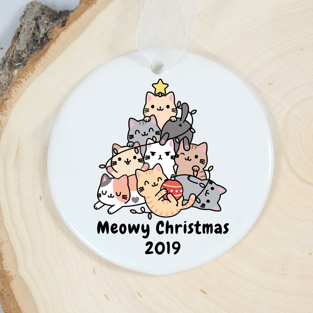 meowy Christimas ornament for kitty lovers