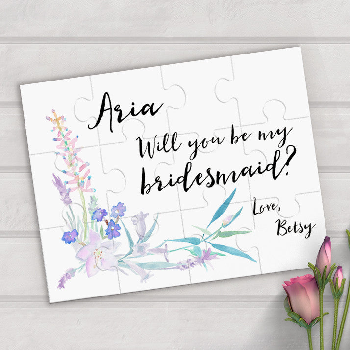will you be my bridesmaid personalized puzzle