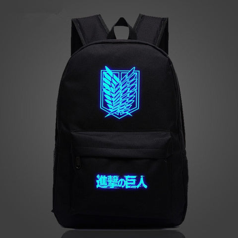 Backpack - ATTACK ON TITAN Survey Corps Emblem Multicolor Luminous Backpack