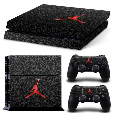 Console Skin Kit - BASKETBALL Michael Jordan Red Air Logo Sony PS4 Console Skin Kit
