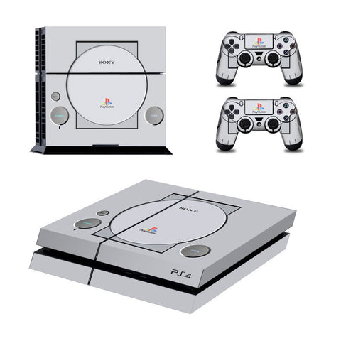 Console Skin Kit - CLASSICAL PS1 DESIGN Sony PS4 Console Skin Kit