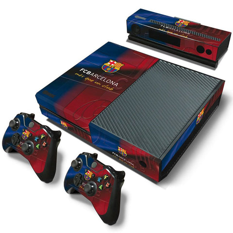 Console Skin Kit - FOOTBALL CLUB FC Barcelona Microsoft Xbox One Console Skin Kit