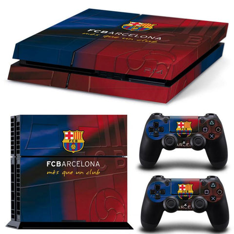 Console Skin Kit - FOOTBALL CLUB FC Barcelona Sony PS4 Console Skin Kit