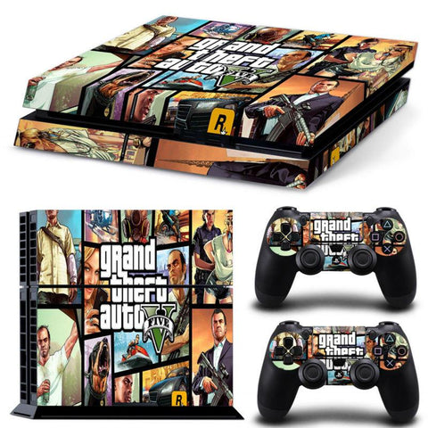 Console Skin Kit - GTA 5 Sony PS4 Console Skin Kit