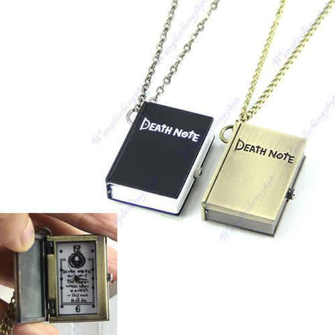 Necklace - DEATH NOTE Pocket Watch Clock Pendant Necklace