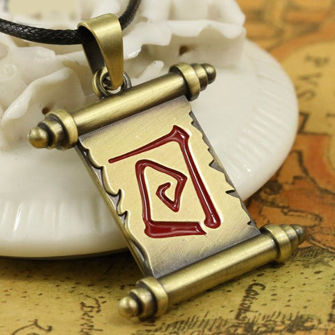 Necklace - DOTA 2 Town Portal Scroll Pendant Necklace
