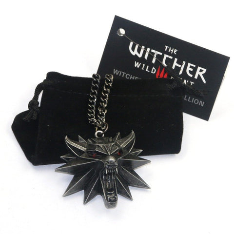 Necklace - THE WITCHER 3 : WILD HUNT 3D Wolf Head Pendant Necklace