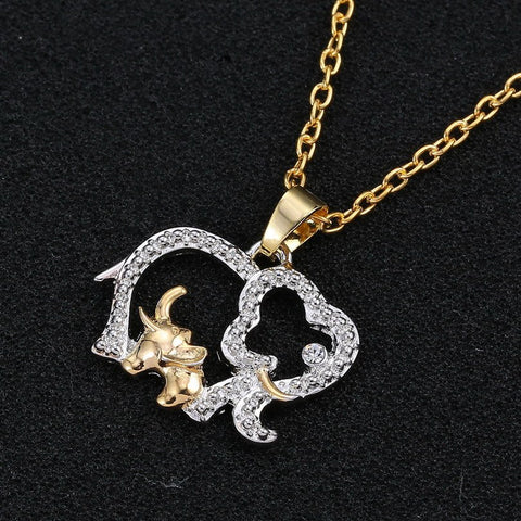 Necklace - WOMEN Fashion Mother & Baby Elephant Pendant Necklace