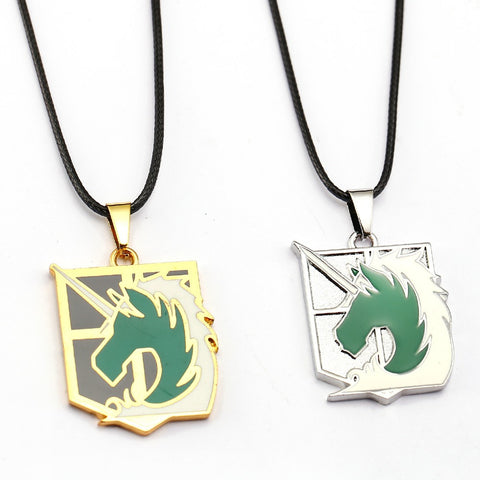 ATTACK ON TITAN Military Police Emblem Pendant Necklace