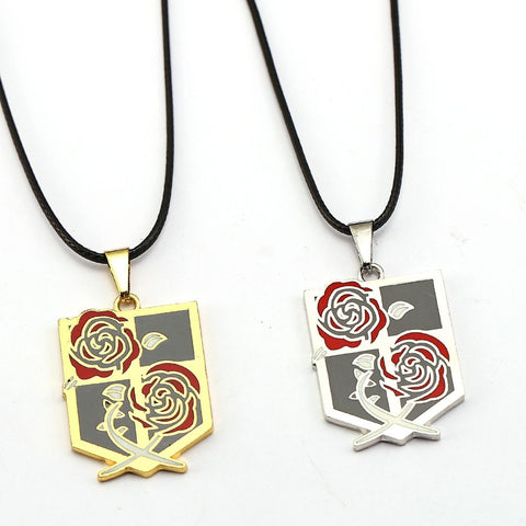 ATTACK ON TITAN Garrison Emblem Pendant Necklace