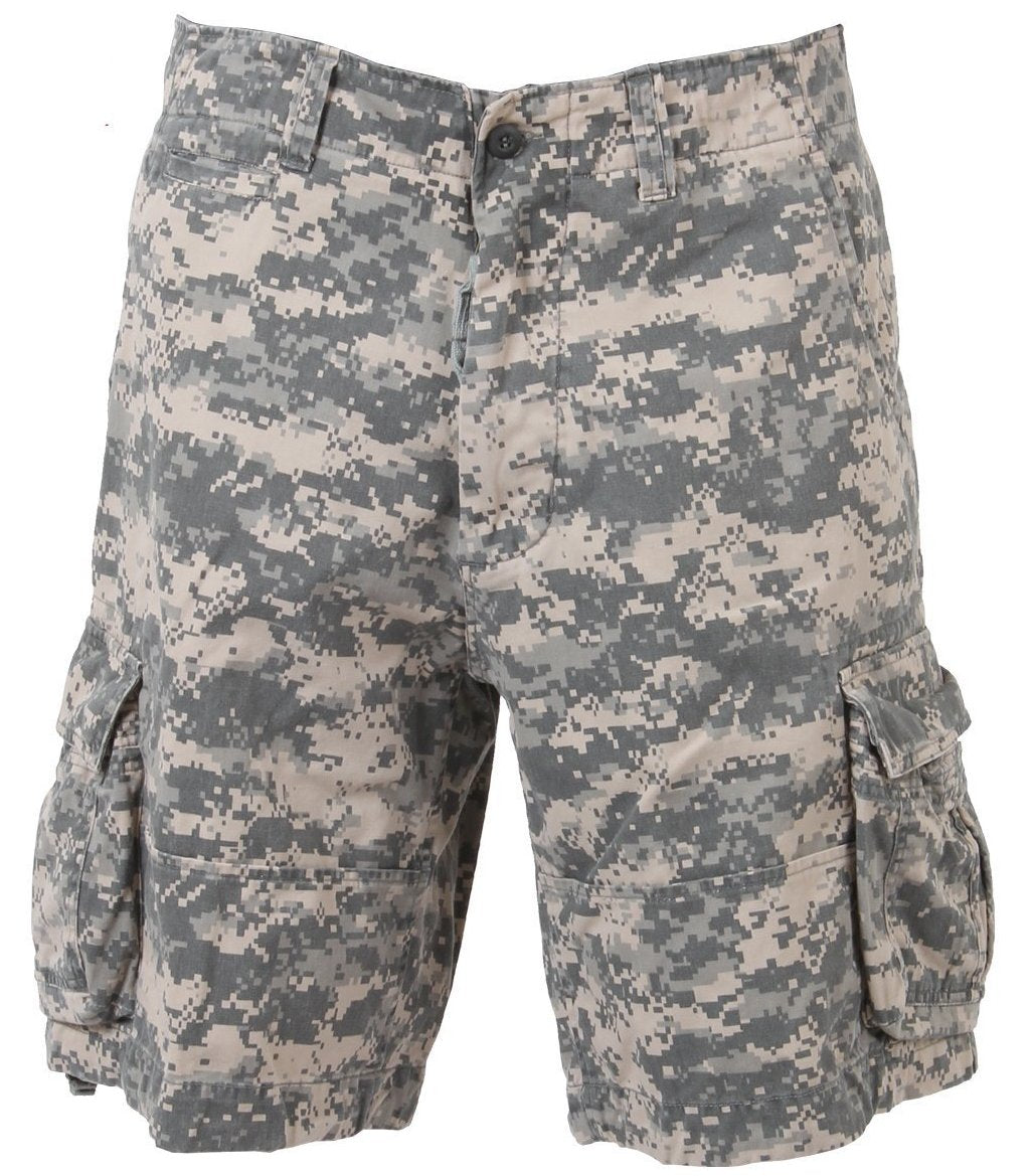 ACU Digital Camo Cargo Shorts | 365 Outfitters | These Cargo Shorts are made with a rugged, heavyweight washed cotton fabric.