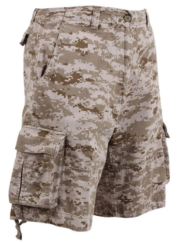 Desert Digital Camo Cargo Shorts | 365 Outfitters | These Cargo Shorts are made with a rugged, heavyweight washed cotton fabric.