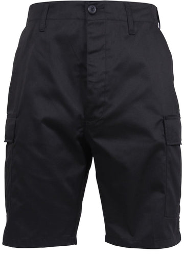 Black Button Fly BDU Shorts | 365 Outfitters