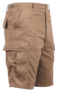 Coyote Brown Button Fly BDU Shorts | 365 Outfitters