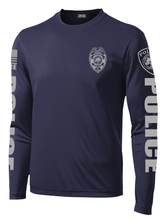 Ambler Borough Police Patrol Long Sleeve Performance Shirt  | Navy and Grey - №365 Outfitters
