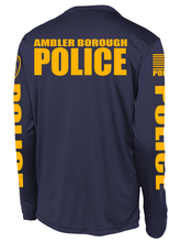 Ambler Borough Patrol Supervisor Long Sleeve Performance Shirt  | Navy and Yellow - №365 Outfitters