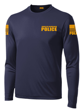 Ambler Borough Police Officer Long Sleeve Performance Shirt  | Navy and Yellow - №365 Outfitters