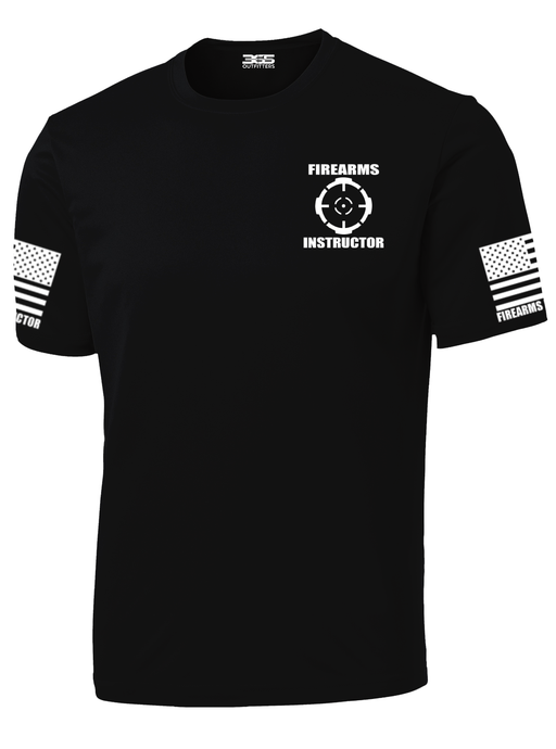 Black with White Graphics Firearms Instructor Performance T-Shirt