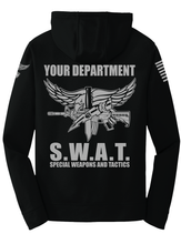 Tactical Team Performance Hooded Pullover | Black with Gray - №365 Outfitters