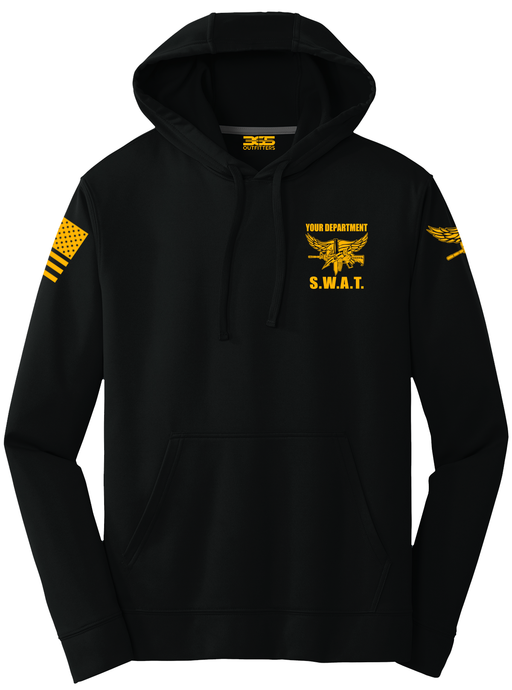 Tactical Team Performance Hooded Pullover | Black with Yellow - №365 Outfitters