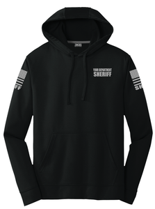 Sheriff Performance Hoodie | Black with Grey Graphics