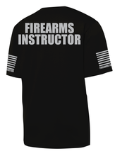 Black with Grey Graphics Firearms Instructor Performance T-Shirt - №365 Outfitters