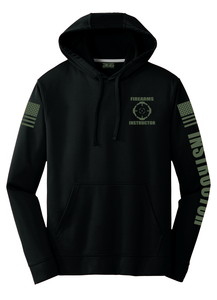 Firearms Instructor Hoodie | Black with Military Green - №365 Outfitters