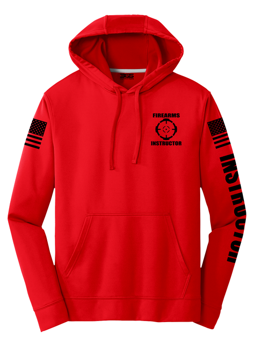 Firearms Instructor Hoodie | Red with Black - №365 Outfitters