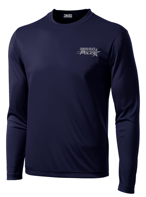 Ormond Beach Police Department Crime Scene Long Sleeve Performance Shirt | Navy