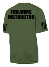 Military Green with Black Graphics Firearms Instructor Performance T-Shirt - №365 Outfitters