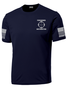 Navy Blue with Grey Graphics Firearms Instructor Performance T-Shirt - №365 Outfitters