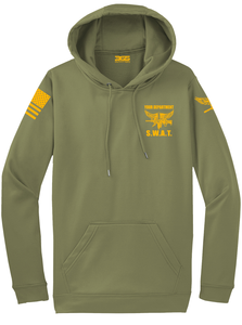 Tactical Team Performance Hooded Pullover | Olive Drab with Yellow - №365 Outfitters