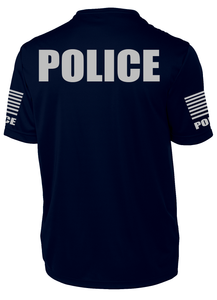 Men's Navy Blue Police Performance Shirt - №365 Outfitters