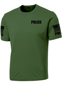 Men's Military Green Police Performance Shirt - №365 Outfitters