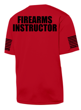 Red with Black Graphics Firearms Instructor Performance T-Shirt - №365 Outfitters