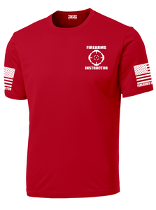 Red with White Graphics Firearms Instructor Performance T-Shirt - №365 Outfitters