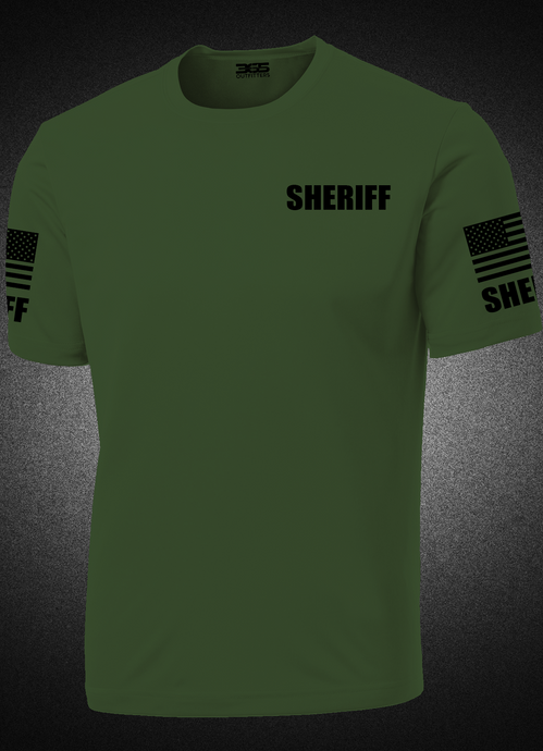 Men's Military Green Sheriff's Performance Shirt - №365 Outfitters