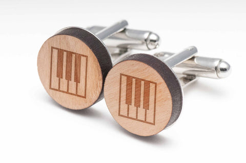 Piano Keys Wood Cufflinks