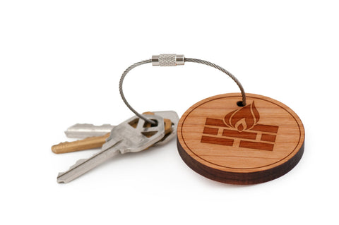 Fireplace Wood Keychain