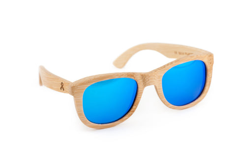 Aids Ribbon Wooden Bamboo Sunglasses