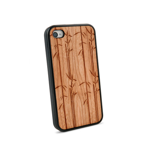 Bamboo Natural Wooden iPhone 4/4S Case in American Cherry Wood