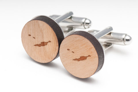 Anguilla Wood Cufflinks
