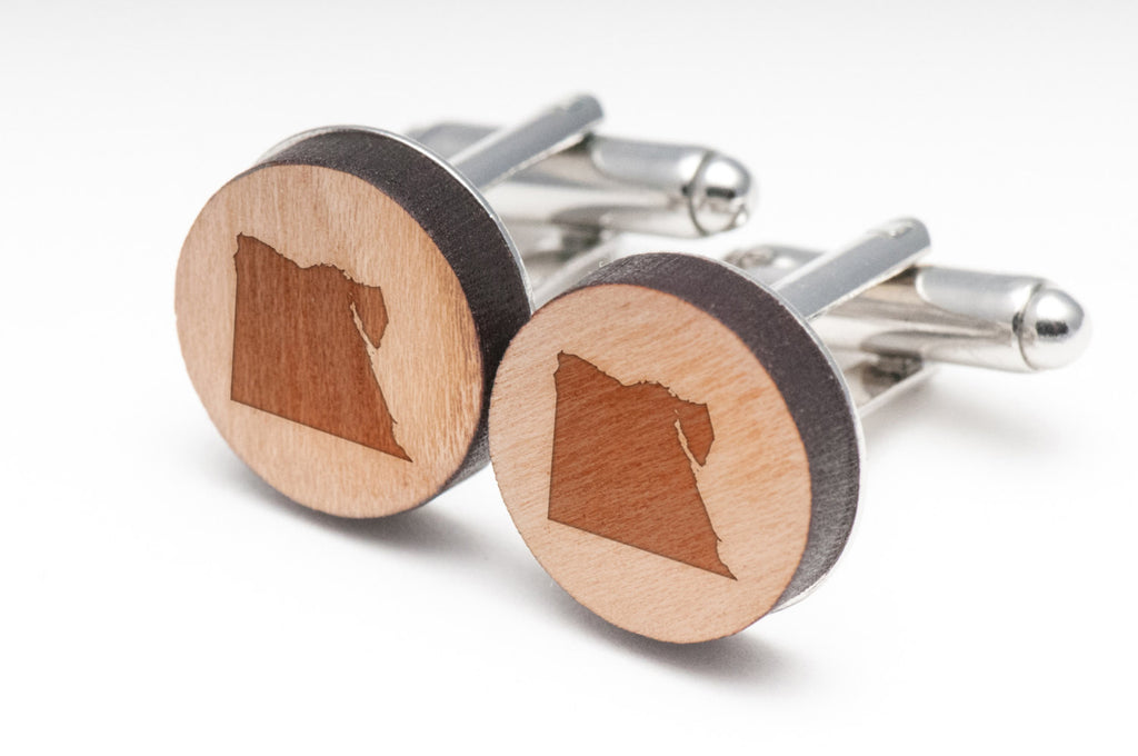 Egypt Wood Cufflinks