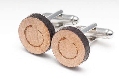 Enso Wood Cufflinks