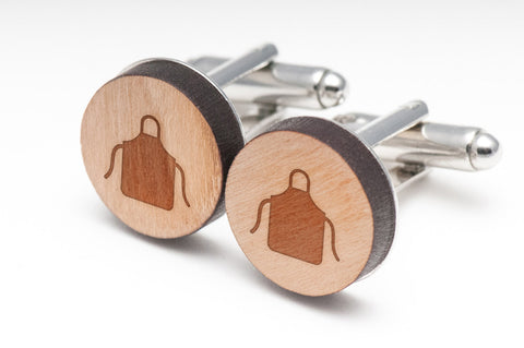 Apron Wood Cufflinks