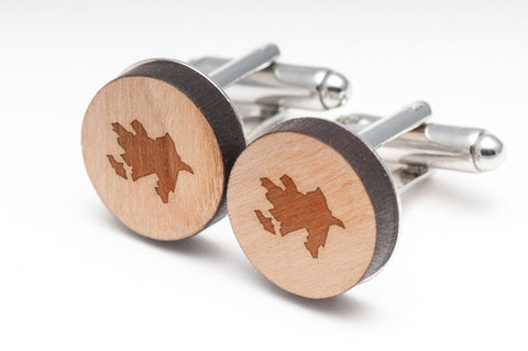 Azerbaijan Wood Cufflinks