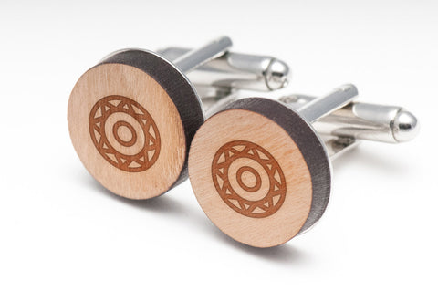 Aztec Wood Cufflinks